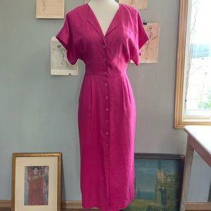 Vintage linen Nordstrom dress